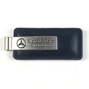 Mercedes-Benz Black Leather Key Chain W/O Key Ring